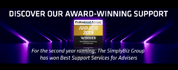 SimplyBiz Group named Best Support Services For Advisers at Professional Adviser Awards